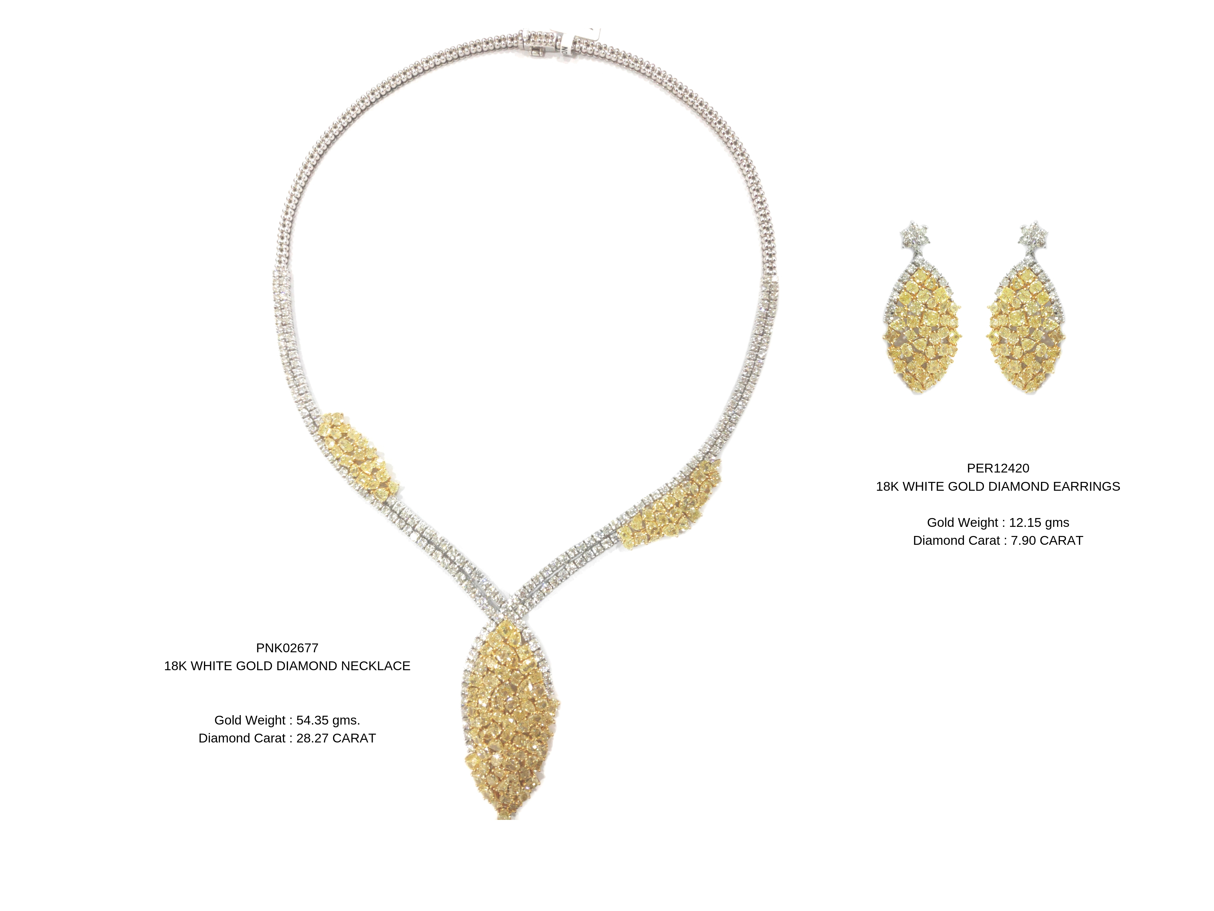 yellowdiamondnecklaceset